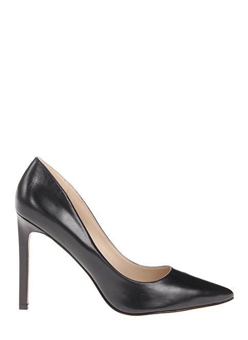 Nine West Deri Stiletto Ayakkabı Siyah